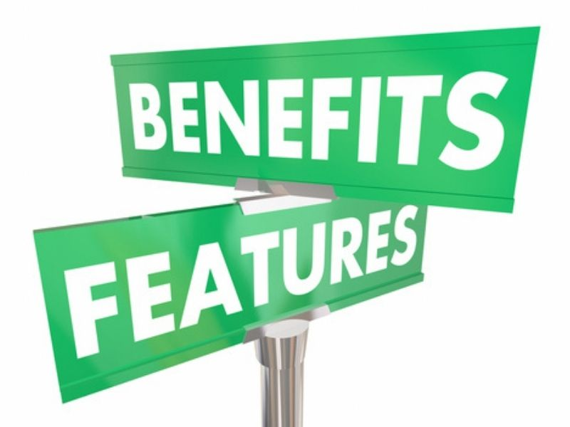 features benefits concept